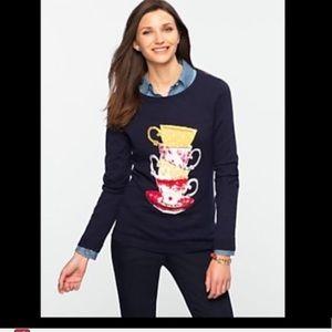 Talbots teacup crewneck sweater